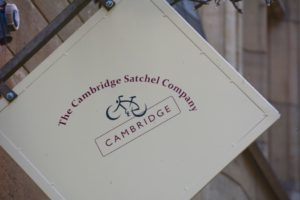 Cambridge Satchel Company Sign