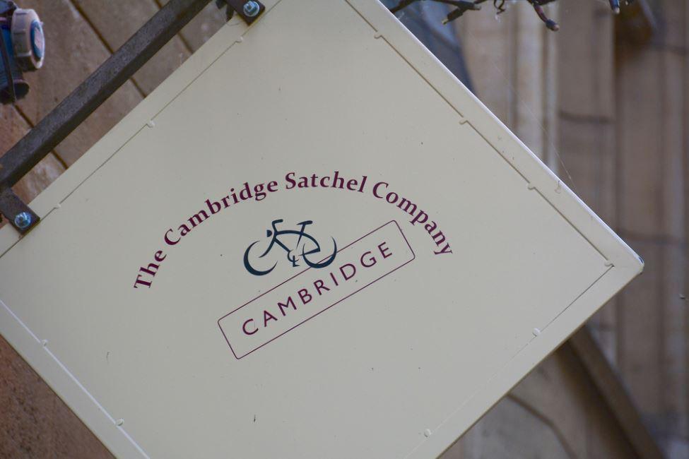 Cambridge Satchel Company Sign
