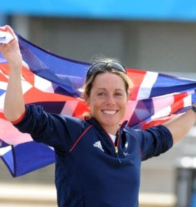 Paralympic sailing, Helena Lucas celebrates Gold, 060912,