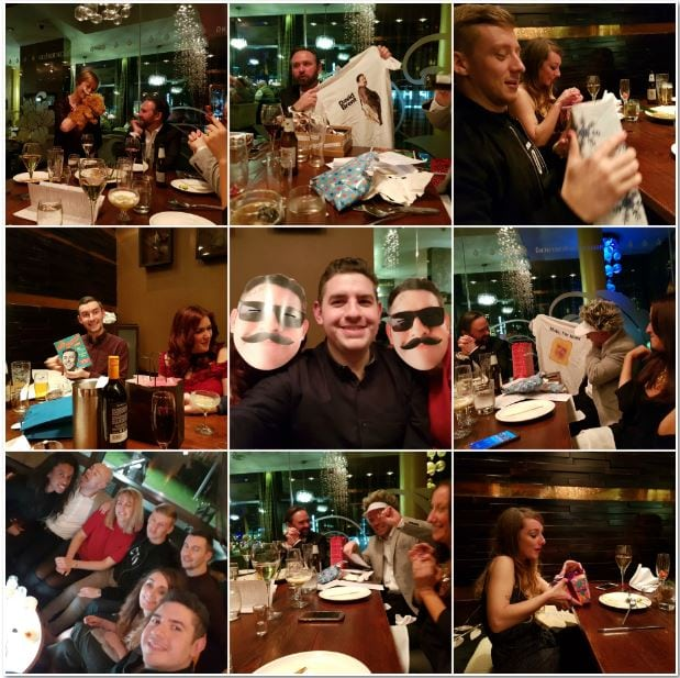 Christmas night collage